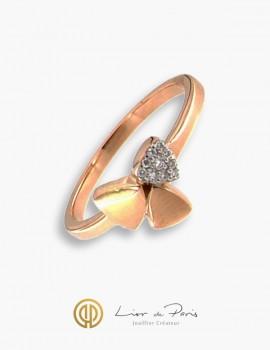 Bague Or Rose 18K, Diamants