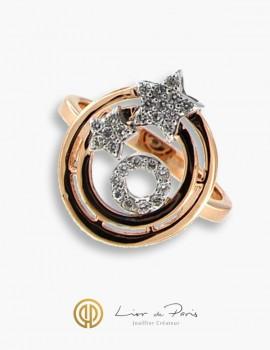 Bague Or Rose & Blanc 18K, Diamants
