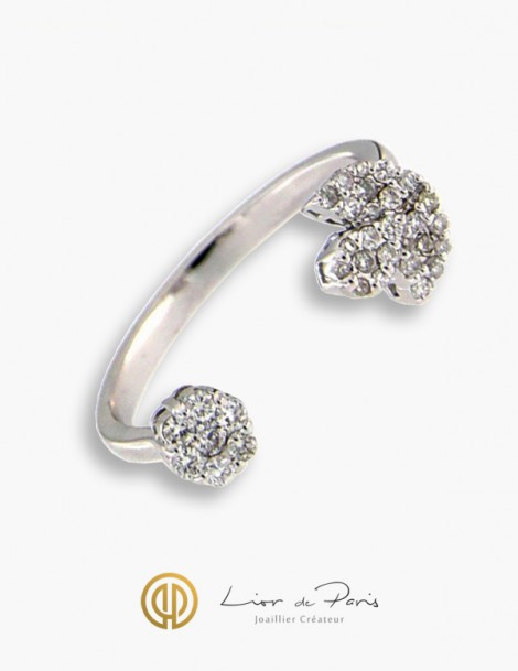 bague or blanc diamant paris